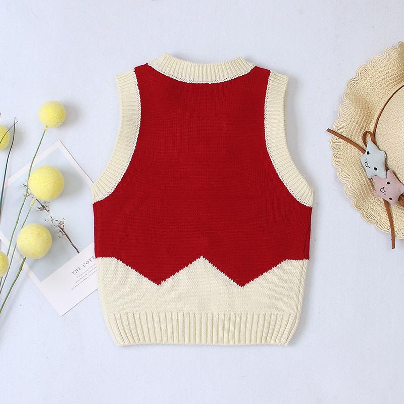 Sleeveless Knitwear Botton Front