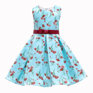 Toddler Girl Pretty Floral Allover Party Dress