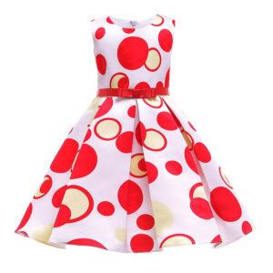 Toddler Girl Pretty Polka Dots Print Party Dress
