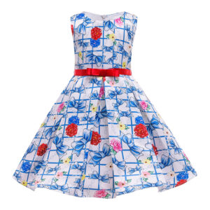 Toddler Girl Pretty Floral Print Party Dress
