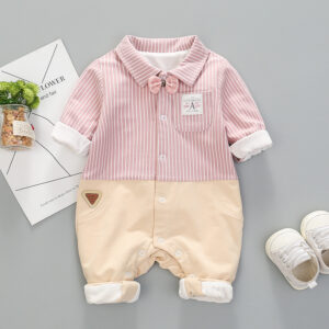 Baby Faux-two Preppy Style Jumpsuit