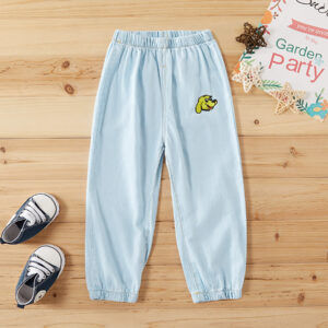 Baby / Toddler Boy Adorable Dog Embroidery Jeans