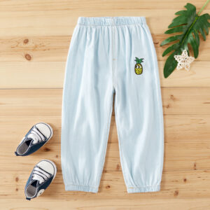 Baby / Toddler Adorable Pineapple Embroidery Jeans