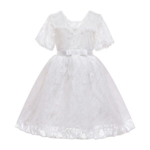 Toddler Girl Pretty Lace Floral Decor Party Dress