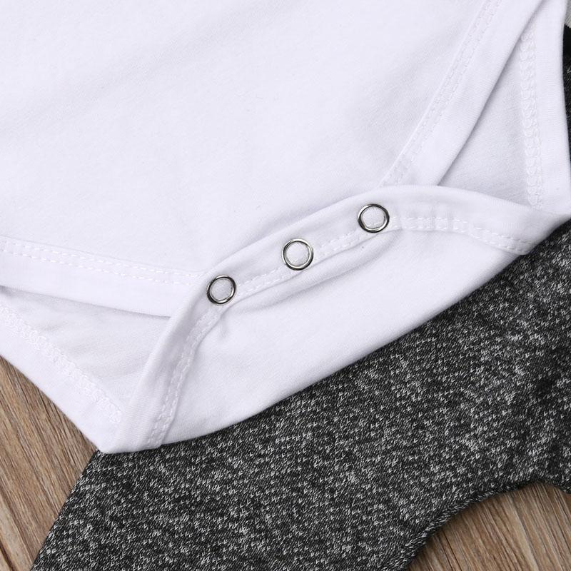3-piece Letter Print Bodysuit and Pants Set