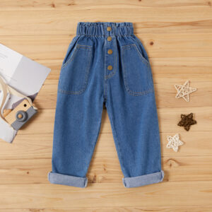 Baby / Toddler Front Pocket Design Highwaist Jeans