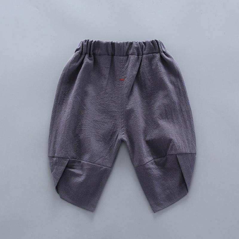 Plaid Short-sleeve Shirt and Pants Set