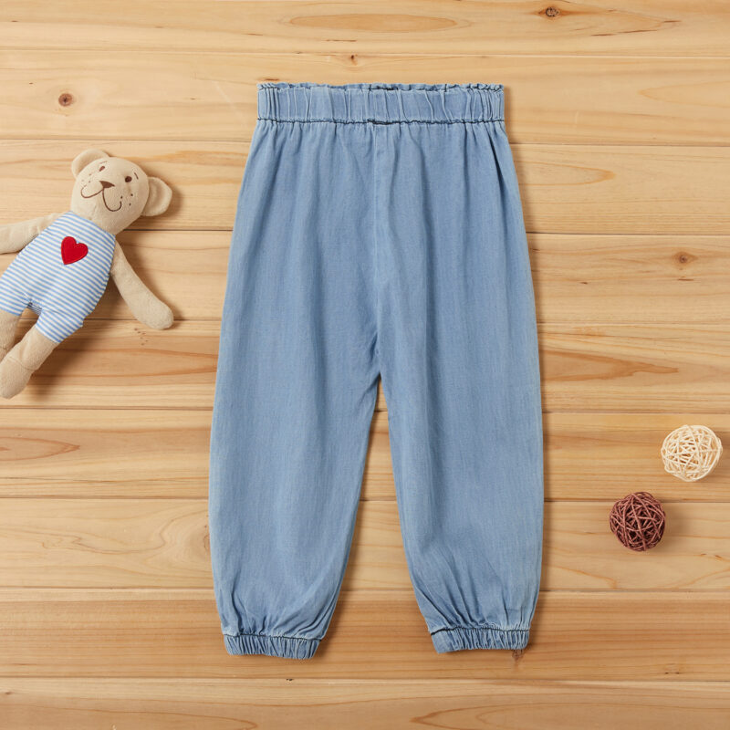 Baby / Toddler Girl Adorable Cat Embroidery Jeans