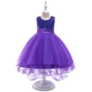 Toddler Girl Sequined Mesh Irregular Party Dress