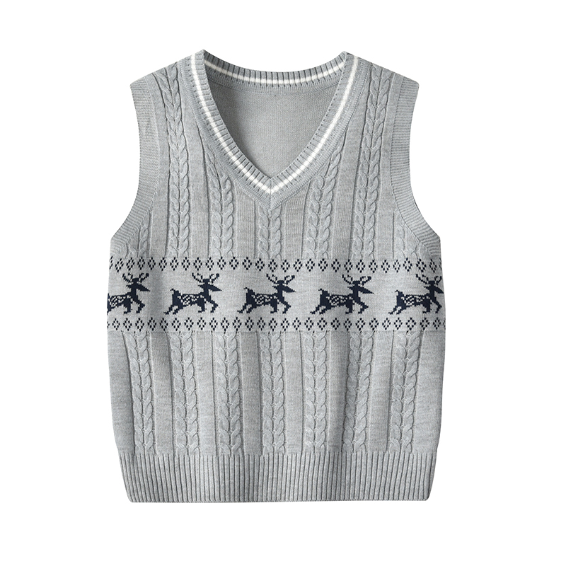 Toddler / Baby Elk Print Sleeveless Knitwear