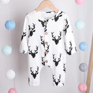 Baby Elk Long-sleeve Jumpsuit