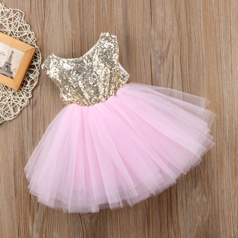 Baby/ Toddler Girl's Sequin Tulle Party Dresses