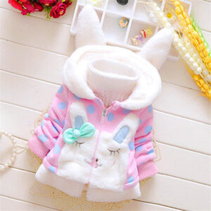 Baby / Toddler Lovely 3D Rabbit decor Polka Dots Coat (No Sweater )