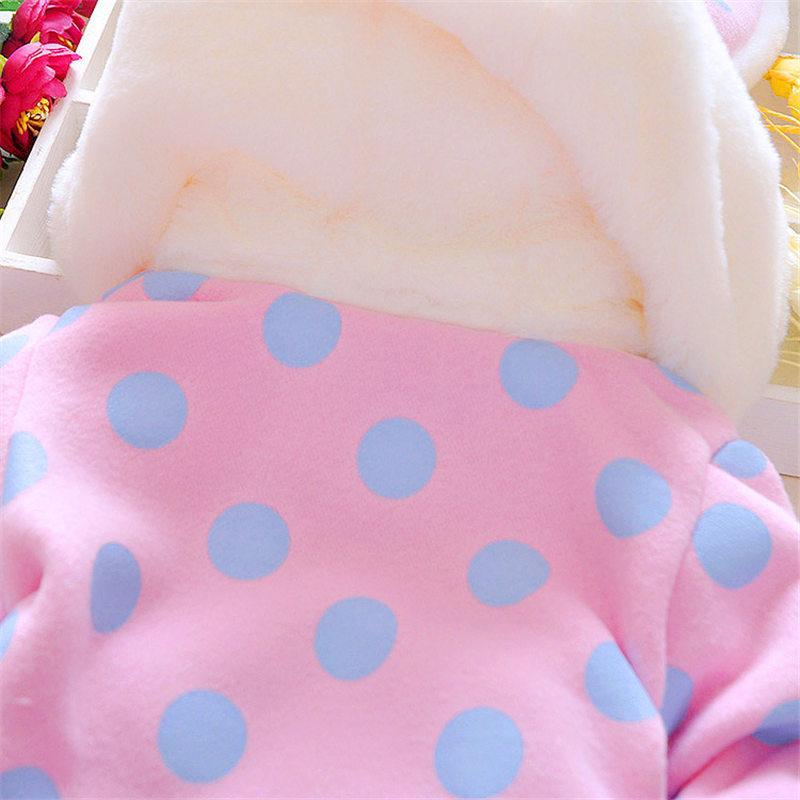 Baby / Toddler Lovely 3D Rabbit decor Polka Dots Coat (No Sweater )