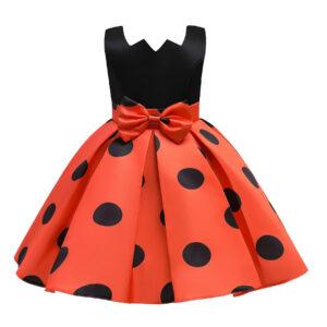 Toddler Girl Polka dots Bowknot Sleeveless Party Dress