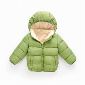 Baby / Toddler Causal Fluff Solid Long-sleeve Hooded Cotton Coat