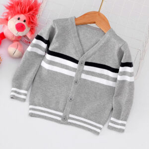 Baby / Toddler Casual Striped Long-sleeve Knitwear