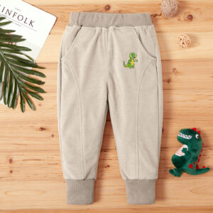 Baby / Toddler Boy Animal Dinosaur Print Solid Casual Harem Pants
