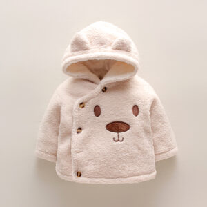 Baby / Toddler Cartoon Bear Fluff Long-sleeve Hooded Coat