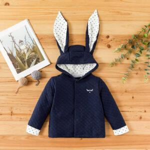 Baby / Toddler Boy Polka dots Rabbit Ear Hooded Jacket