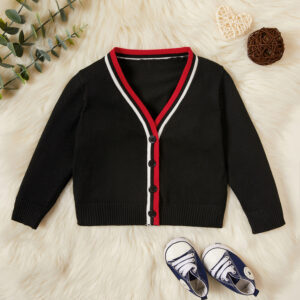 Baby / Toddler Striped Casual Knitted Cardigan