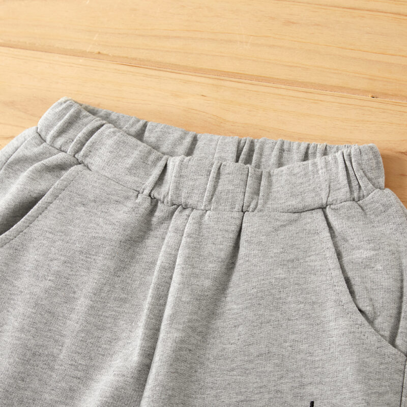 Toddler Boy Letter Print Solid Casual Sporty Pants