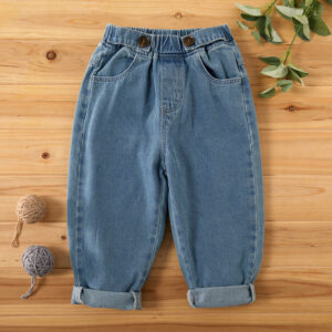 Toddler Solid Pocket Jeans