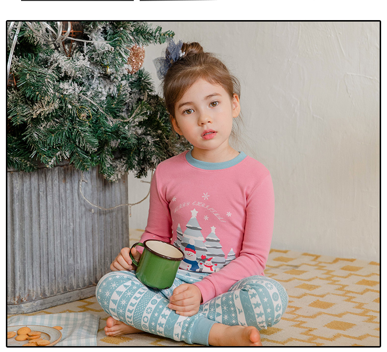 Little Kid and Toddler Boys' 2-Piece Cotton Christmas Pajama Set
