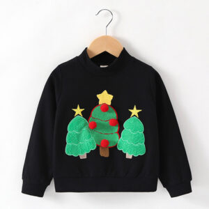 Baby Boy Clothes Christmas Tree Printed Long Sleeve Tops