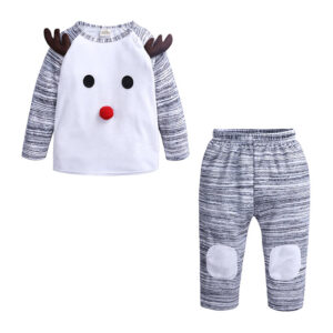 Christmas 2Pcs Outfit Set Baby Girls Boys Pajamas (DTZ9447A)