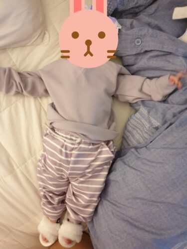 Solid Top and Striped Pants Set photo review