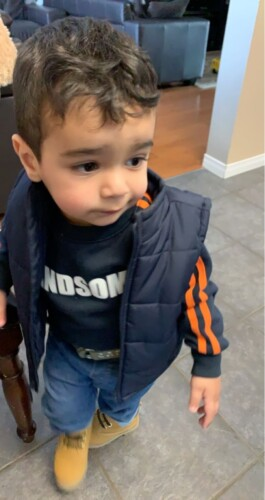 Baby / Toddler Boy Striped Letter Print Fluff Pullover photo review