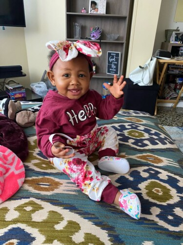 3-piece Baby Girl HELLO Print Floral Long-sleeve Hoodie and Adorable with Headband Set photo review