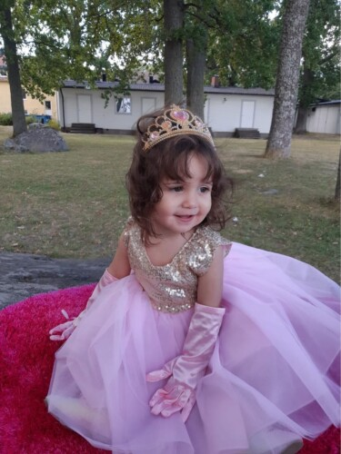 Baby/ Toddler Girl's Sequin Tulle Party Dresses photo review