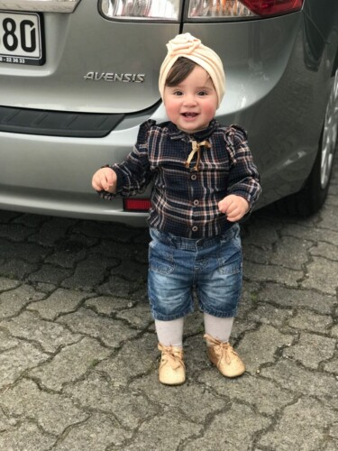 Baby / Toddler Girl Plaid Flutter-sleeve Shirt photo review