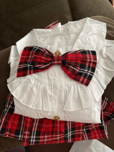 2-piece Baby / Toddler Preppy Style Top and Plaid Skirt Set photo review