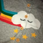 Baby / Toddler Cloud Print Colorful Long-sleeve Knitted Cardigan photo review