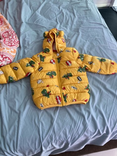 Baby / Toddler Animal Dinosaur Pattern Polka dots Stars print Hooded Down Coat photo review