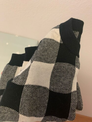 Baby Unisex Casual Plaid Sweaters photo review