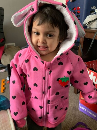 Baby / Toddler Girl Heart Strawberry Fluff Long-sleeve Coat photo review