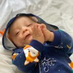 Stylish Fox Design Long-sleeve Hooded Jumpsuit for Baby photo review