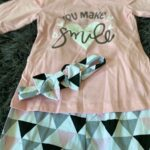 3-piece Letter Print Long-sleeve Top and Geo Print Pants Set photo review