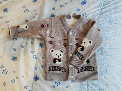 Baby / Toddler Adorable Bear Print Warm Knitwear photo review