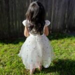 Baby / Toddler Girl Pretty Floral Embroidery Solid Tulle Party Dress photo review