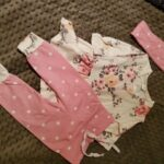3-piece Baby Girl Lovely Floral Longsleeves Top and Polka Dots Pants with Headband Set photo review