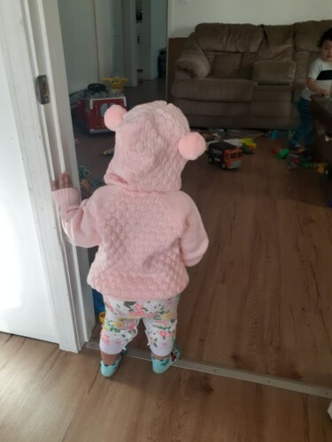 Baby Boy / Girl Adorable Pompon Deer Solid Knitted Coat (No Shoes) photo review