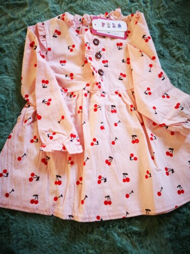 Baby / Toddler Cherry Allover Print Ruffled Collar Dress photo review