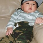 Baby Boy's Striped Camouflage Hooded Bodysuit and Drawstring Pants photo review