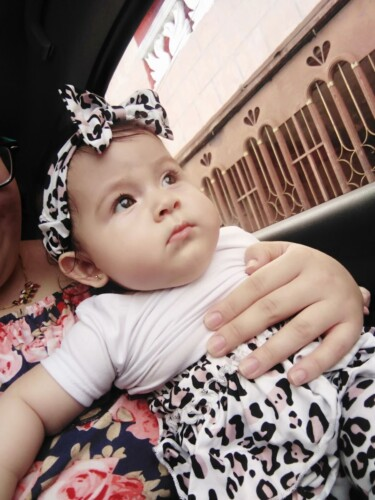 Baby Flounced Solid Top and Leopard Pants with Headband Set photo review