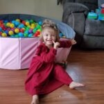 Baby / Toddler Girl Solid Ruffled Long-sleeve Dress photo review